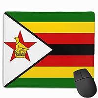 ジンバブエの国旗 マウスパッド 25×30 大判 ノンスリップ 防水 ゲーミング おしゃれ マウスの精密度を上がる
