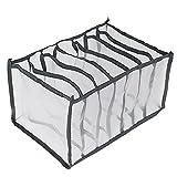 Cassetto Organizer divisor per armadio internoi ,Organizer per cassetti,Usato per pantaloni jeans e leggings,Armadio Divisori Pieghevole Storage Box (36x25x20cm;Grigio)