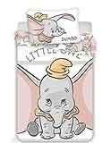 Disney Dumbo - Set di biancheria da letto per bambini, 2 pezzi, 100% cotone, dimensioni: 100 x 135 cm, 40 x 60 cm, Öko-Tex Standard 100