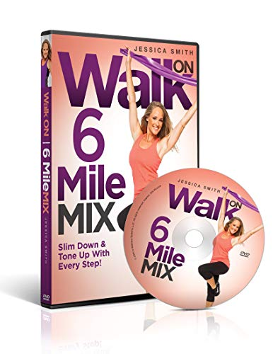 Walk On: 6 Mile Mix DVD with Jessica Smith - Workout Videos For Women, Low Impact, Cardio and Sculpting Exercise for Total Body Toning