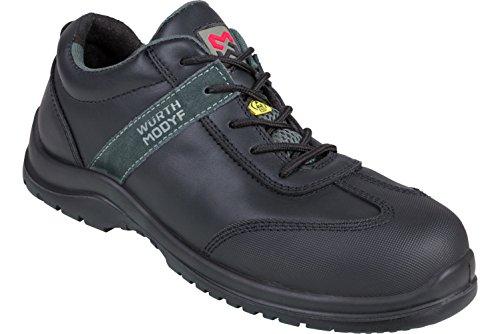 WÜRTH MODYF Sicherheitsschuhe S3 ESD SRC Leo schwarz: Der multifunktionale Schuh ist in Größe 42 erhältlich. Der zertifizierte Arbeitsschuh ist ideal für Lange Arbeitsalltage.