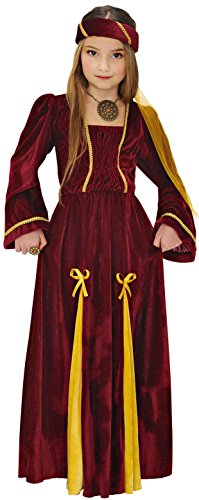 Widmann Kostüm für Mädchen, Prinzessin, mittelalterliche Prinzessin, Größe 140 cm, 8-10 Jahre