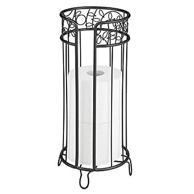 mDesign Metal Toilet Paper Storage Holder, 3 Rolls