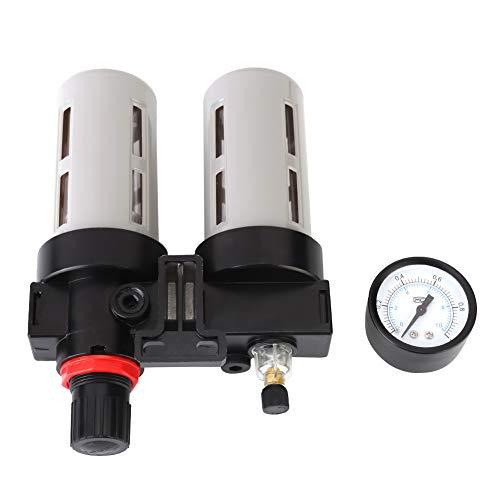 Jadpes Luchtdrukcompressorfilter waterregelaar gereedschapsset, PT1/2 hoogwaterafscheidingsgraad filter manometer olieafscheider waterafscheider met afvoerventiel regelaar gereedschapsset