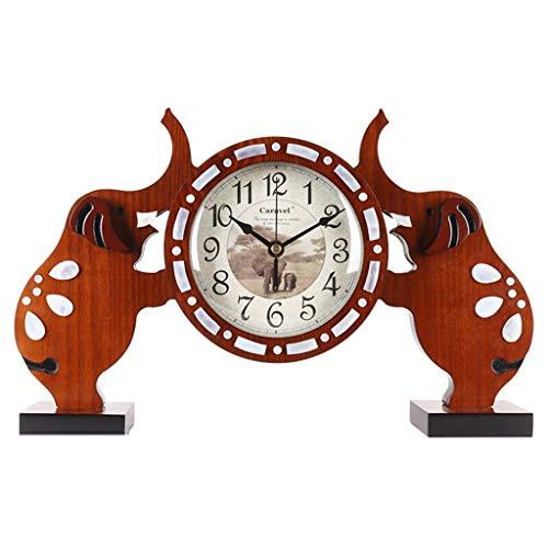 ZLDMYC Exquisito Reloj de Escritorio de Elefante Creatividad Mesa Reloj DE LA Tabla DE Mantle DE MANTE DE MANTERA Decoración del hogar para la Sala de Estar de la Sala de Estar Oficina creati