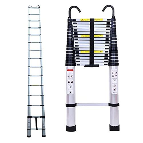 Escaleras Plegables telescópicas 6.2M / 20.35ft Escalera telescópica de extensión de Aluminio...