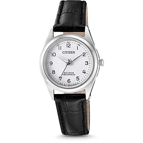 CITIZEN Damen Analog Solar Uhr mit Leder Armband ES4030-17A