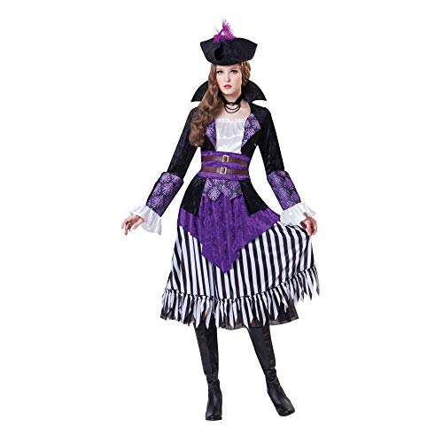Bristol Novelty- ristol Novelty AC183 Déguisement Reine Pirate, Violet, UK 10-14