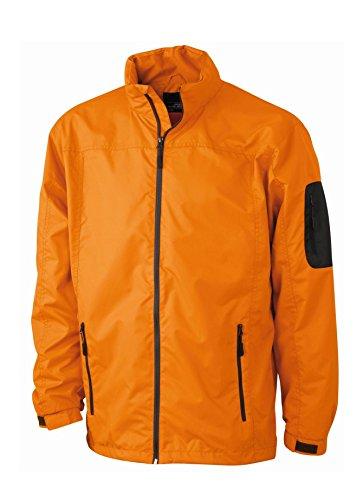 2Store24 Men's Windbreaker in Orange/Carbon Size: S