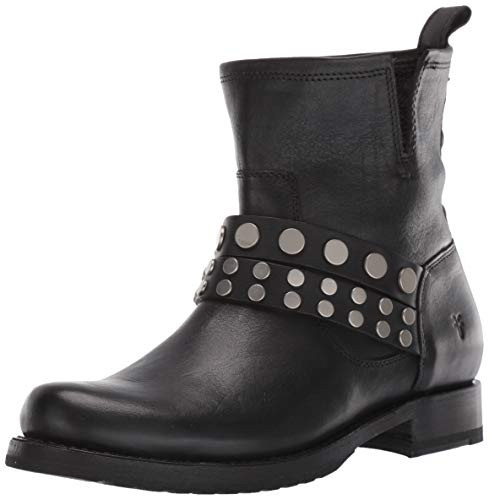 FRYE Women's Veronica Stud Bootie Ankle Boot, Black, 7 M US