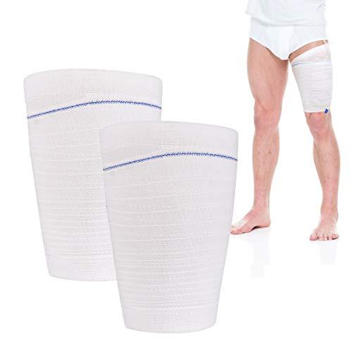 Catheter Leg Bag Holder 2 Count Fabric Catheter Sleeves Urine Leg Bag Holder - Urinary Drainage Bag Stay in Place Urine Bags for Legs Foley Catheter Bag Holder Strap for Men or Women Wheelchairs (L)