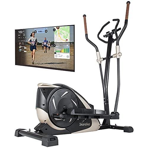 skandika Crosstrainer Eleganse/Adrett | Design Hometrainer mit Bluetooth, App-Steuerung (z.B. Kinomap), Tablethalterung, Magnetbremssystem, 12kg Schwungmasse, 32 Stufen | bis 130kg