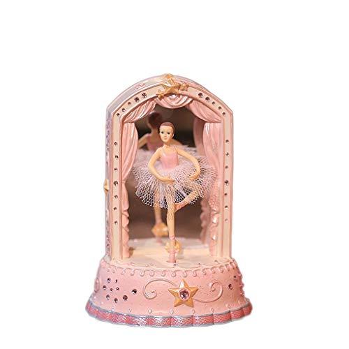 BOWCORE vorm dansen Ballerina muziek doos polyresin meisje hand Crank muziek doos mechanisme
