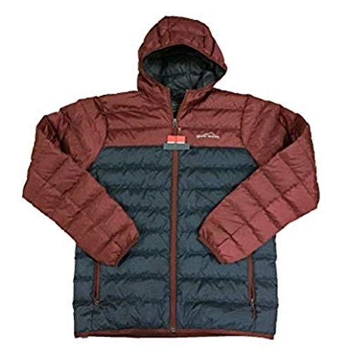 Eddie Bauer Men's Cirruslite Hooded Down Jacket (Dk Smoke HTR, XL) - NEW