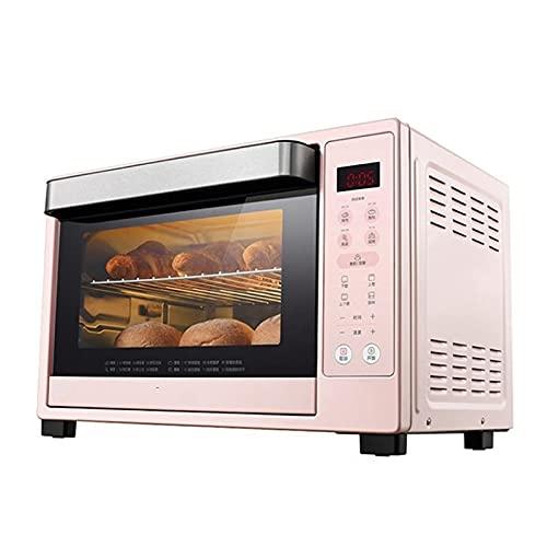 Sysyrqcer Horno de tostadora Freidora, 35L Horno eléctrico Horno Digital Encimera Digital Rotisserie Horno Pizza Horno 10-IN-1 Tostadas de multifunción/asado/asado/horneado/deshidratar | Receta/Rosa