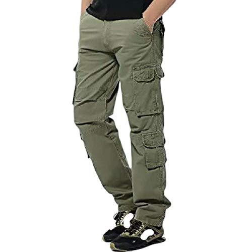 Pantalones Casuales para Hombre Monos de Invierno Pantalones Deportivos Pantalones de Camuflaje Pantalones Cargo Sueltos para Exteriores Pantalones de Trabajo, con múltiples Bolsillos 34
