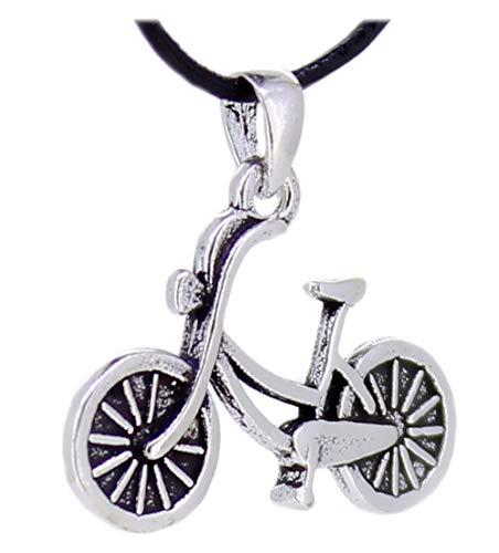 """Anhänger\""""Fahrrad cruiser\"""" aus 925er Sterling Silber 25 x 18 mm, Amulett Kettenanhänger"""