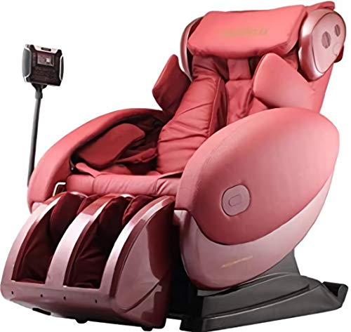 Fujiiryoki FJ-4300 Dr. Fuji Cyber-Relax Massage Chair in Red with Four Rollers Massage Mechanism and Smart Touch Design, Optocoupler Eetection Device, Newly developed Four Rollers Massage Mechanism with Width of 6 to 20cm; Based on this, Shoulder Optocoupler Detection Device has been added to make Accurate and Reliable Shoulder Detection