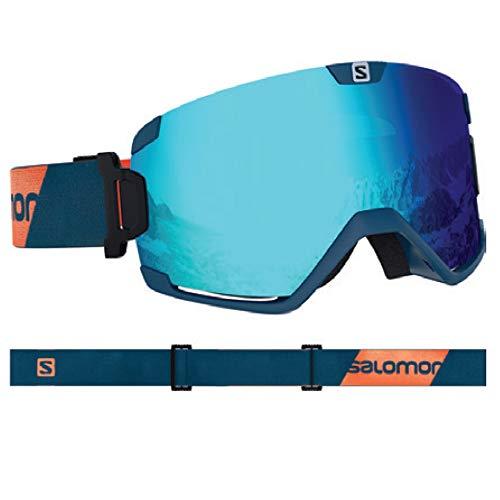 Salomon, Cosmic, Unisex-Skibrille, Blau (Moroccan Blue)/Universal Mid Blue, L40516500