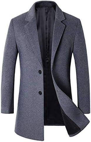 Nomber 3 Colors Winter Men's Woollen Overcoat Male Casual Business Blends Coat Men Long Jacket Overcoat Clothing