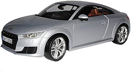 Minichamps Audi TT 8S Coupe Florett Silber 3. Generation Ab 2014 1 18 Modell Auto mit individiuellem Wunschkennzeichen