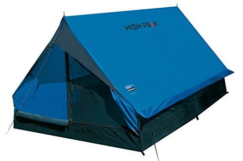 High Peak Hauszelt Minipack, Campingzelt für 2 Personen, Festivalzelt mit Wannenboden, 1500 mm wasserdicht, Ventilationssystem, Moskitoschutz, Leichtgewicht und kleines Packmaß
