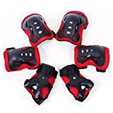 N/X Akaslife Protective Gear Sets - 7pcs Kid Child Self Balancing Bike Roller Knee Elbow Wrist Helmet Pad with 1 Pair Knee Pads, 1 Pair Elbow Pads, 1 Pair Palm Guards, 1 Piece Adjustable Helmet