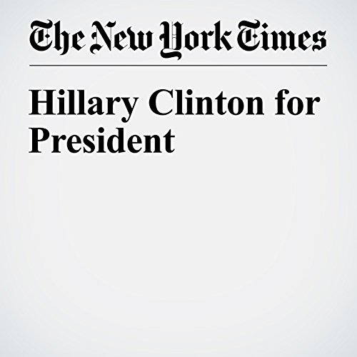 Hillary Clinton for President cover art