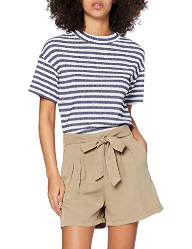 VERO MODA Damen Vmmia Hr Loose Summer Shorts Ga Color Bermudas, Braun (Silver Mink), M