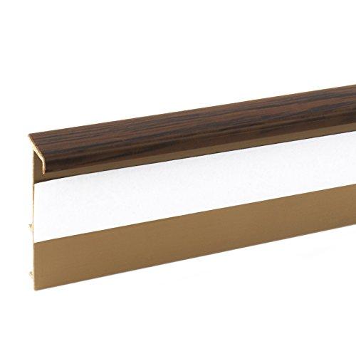 2,5m TEPPICHLEISTEN 50mm MAHAGONI Kettelleisten aus Kunststoff Fussbodenleiste Laminat Dekore Parkett Scheuerleiste