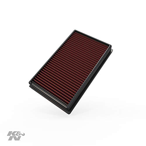 K&N Engine Air Filter: High Performance, Premium, Washable, Replacement Filter: 2012-2019 Volkswagen/Audi/Seat/Skoda Compact 1.6/1.8/2.0 L, 33-3005