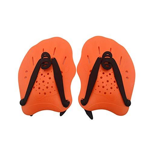 GeKLok Paletas de mano unisex para adultos con correas ajustables para entrenamiento de natación