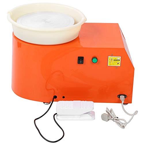 Caredy Töpferscheibe, Elektrische Töpferscheibe 250 watt 30 cm töpferscheibe Clay Maschine formmaschine DIY für Keramikarbeiten Keramik Ton Kunsthandwerk Erwachsene Kinder(Orange)