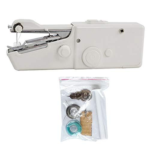 Fugift Mini máquina de coser inalámbrica portátil eléctrica de mano máquina de...