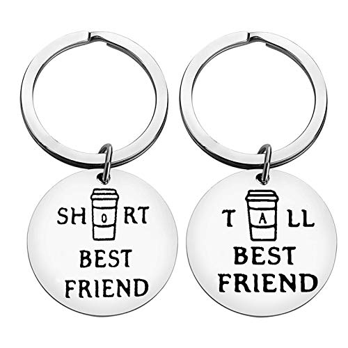Funny Best Friend Keyring Friendship Gifts Tall and Short Best Friend...