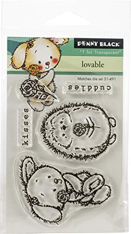 Penny Black PB30529 Mini Clear Stamp Set-Loveable 3