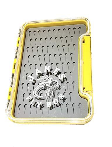 JAKES FLY BOX Silicone Fly Box | Sealed Waterproof Lid | Slim Fly Storage | Fly Fishing (Medium)