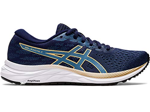 ASICS Women's Gel-Excite 7 Running Shoes, 8M, Peacoat/Champagne