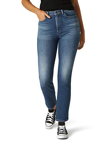 Lee Relaxed Fit Straight Leg Ankle Jean Jeans, Seattle, 40 para Mujer