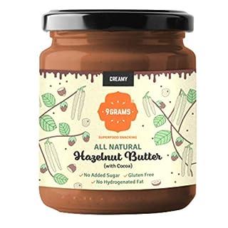 9GRAMS Premium Hazelnut Butter | 96% Hazelnuts, No Added Sugar, No Palm Oil