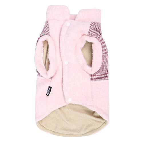 TAKE FANS Invierno mascota felpa lindo ropa suave traje mantener caliente ropa con botn para perro gato durable (M)