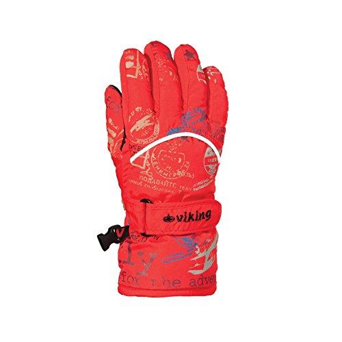Viking aviator gants de ski chauds de gants pour enfant 6 Rouge - Rouge