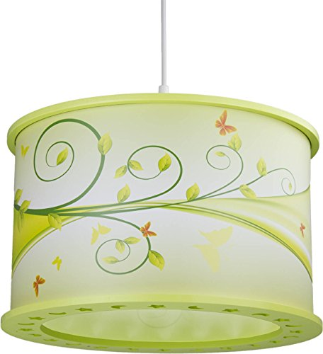 Elobra plafondlamp fantasie 25/40 hanglamp hout, lindegroen 131084