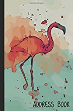 Address Book: Cute Flamingo Drawing Art Design Cover   Alphabetical A-Z Phone Number Address Birthday Email Organizer (Notebook 6 x 9, 157 Pages)