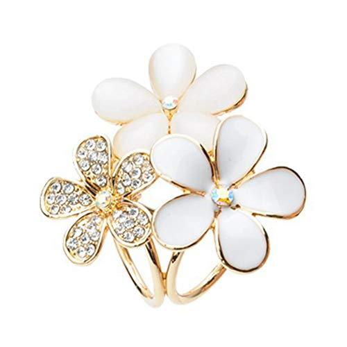 Bodhi200 0 - Broche para bufanda, diseño de flor de imitación con perlas de cristal y diamantes de imitación, para