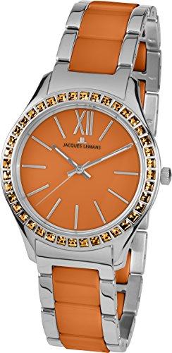 Jacques Lemans Damen-Armbanduhr Rome Analog Quarz Edelstahl 1-1797L
