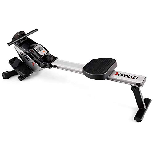 Goplus Folding Rowing Machine,Magnetic Rower with Adjustable Resistance and LCD Display, Exercise Cardio Fitness Equipment for Home Use