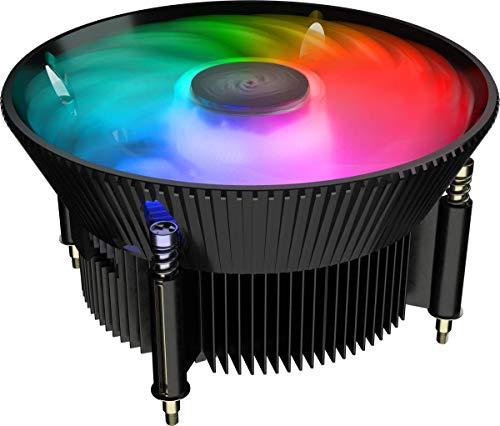 Cooler Master A71C ARGB AMD Ryzen Low-Profile CPU Air Cooler, Anodized Black Aluminum Fins, Copper Insert Base, MF120 120 ARGB Lighting Fan for AMD Ryzen