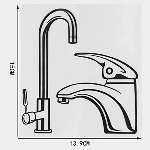 GSPOGTY 3 Piezas de Pegatinas de Coche 13,9 × 15 CM patrón de Grifo de Dibujos Animados calcomanías de Camper Pegatina de Vinilo gráfico Accesorios Laterales de carrocería