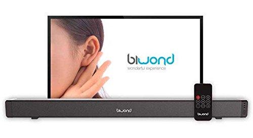 Barra de Sonido TV JoyBox SoundBar Potencia 28W sonido Extra Bass (Cine en casa, Bluetooth, Mando a distancia, control IR, 2x AUX jack 3.5mm podrás conectar tu Televisor, tu MP3, tu smartphone)- negro